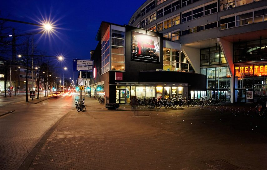 Filmhuis Den Haag buitenkant avond